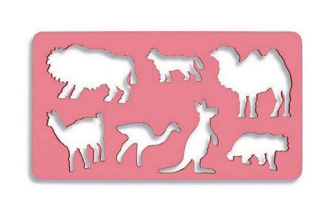 Plastová šablóna zvieratá 3 - ťava