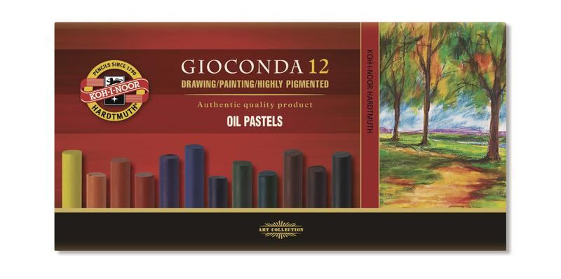 8352 Súprava umeleckých olejových pastelov 12ks GIOCONDA