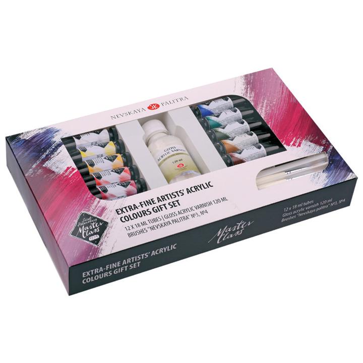 Darčekový set akrylových farieb Artist´s Master Class / 15 dielny