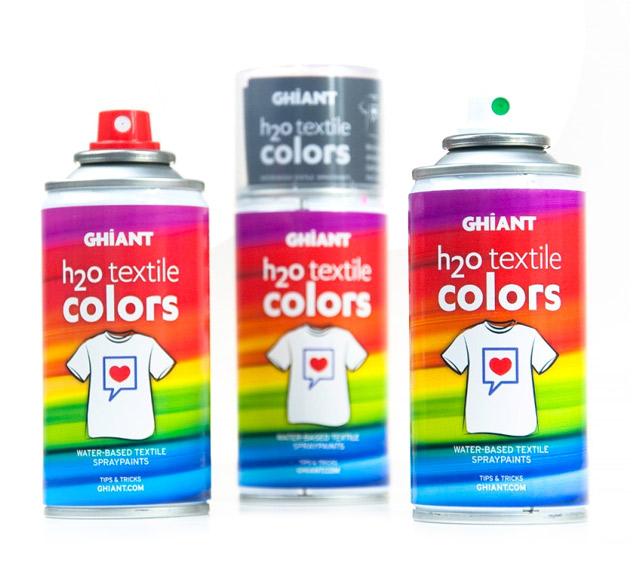 7c0d0036b Sprej na textil Ghiant H2O 150 ml / rôzne odtiene