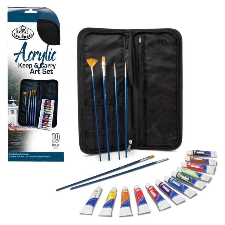 Sada akrylových farieb Essentials v peračníku / 19 dielna
