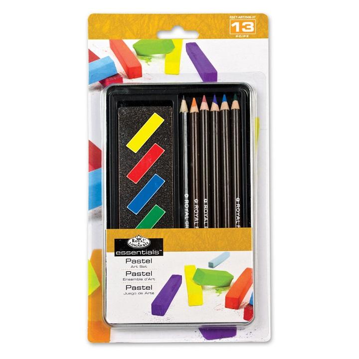 Sada na kreslenie - pastely a ceruzky Essentials v plechu / 13 dielna