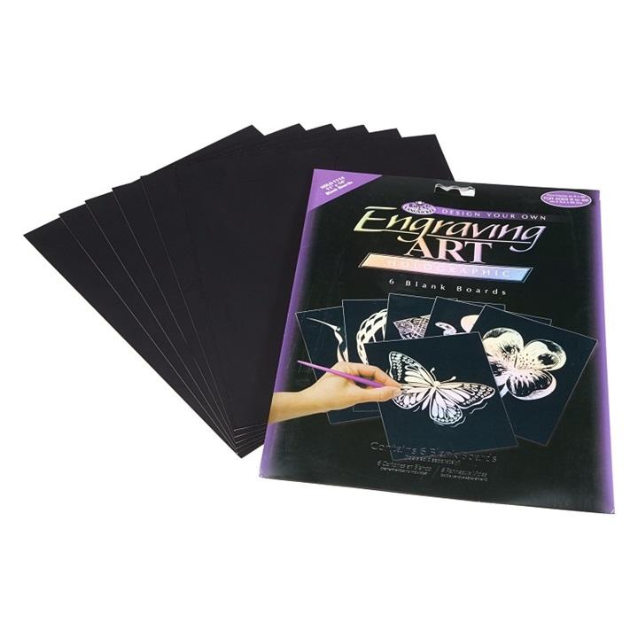 Kreatívny set na engraving [rytie] - 6 x holografická doska