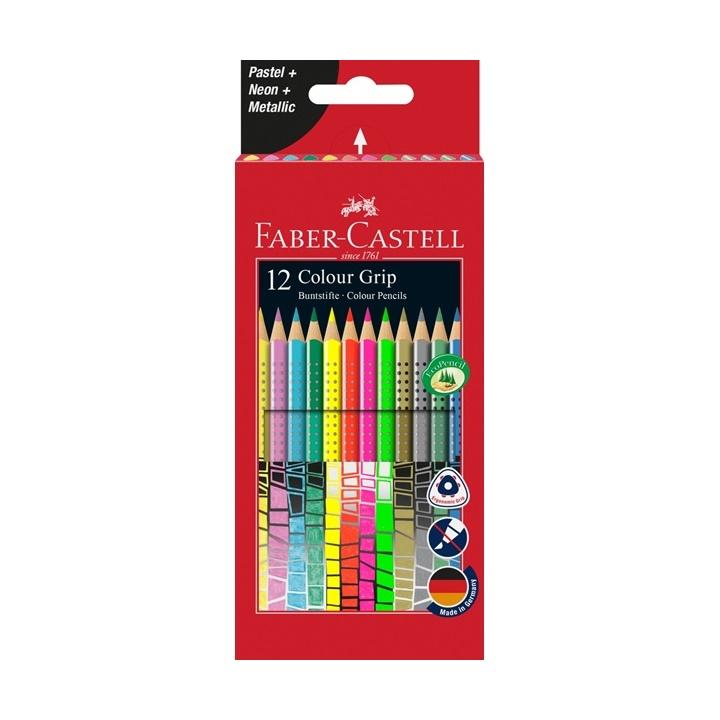 Farebné ceruzky Grip Pastel / Neon / Metallic Set 12 farebné