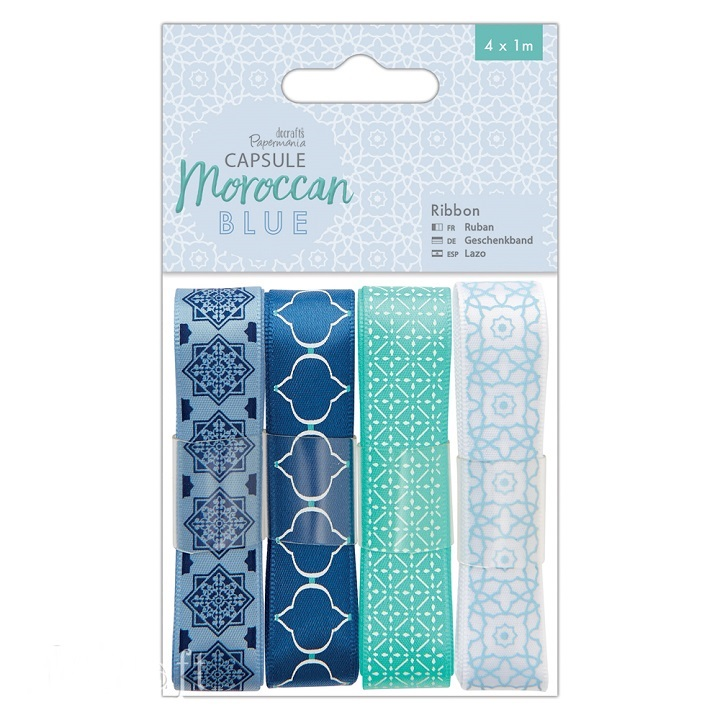 Sada dekoračných stúh - Moroccan Blue - 4 x 1 m