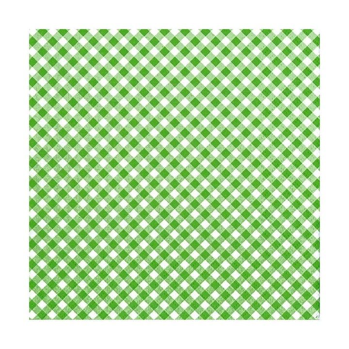 Servítky na dekupáž – Zelenobiele kocky – 1 ks