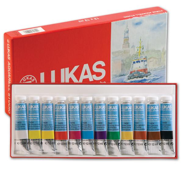 Akvarelové farby LUKAS STUDIO 12x10ml - papierová krabica - sada