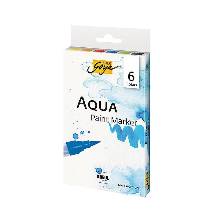 Sada akvarelových popisovačov Aqua Solo Goya / 6 ks