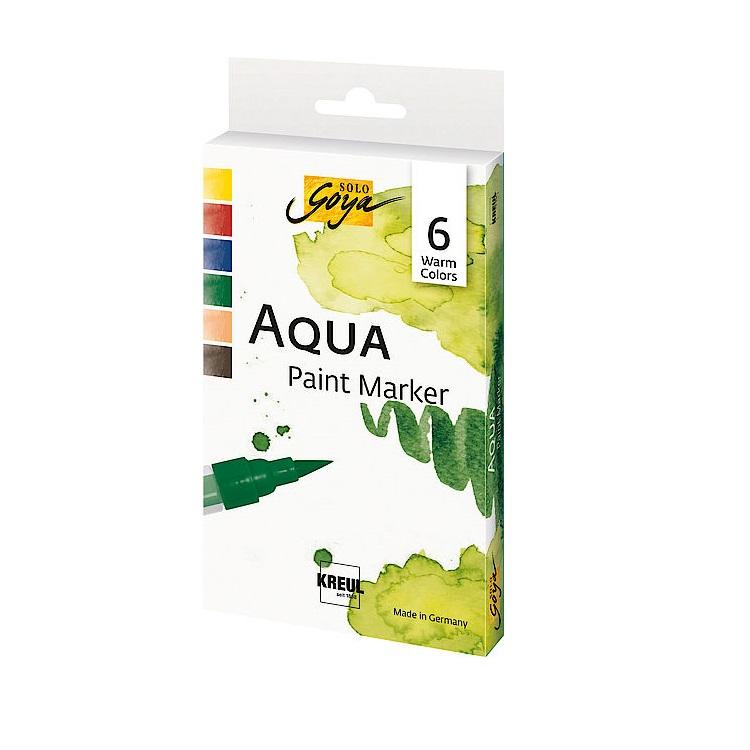 Sada akvarelových popisovačov Aqua Solo Goya Warm Colors / 6 ks