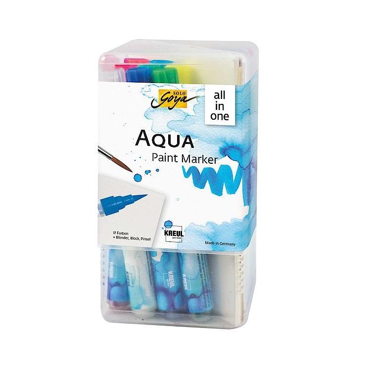 Sada akvarelových popisovačov Aqua Solo Goya Powerpack All-in-one
