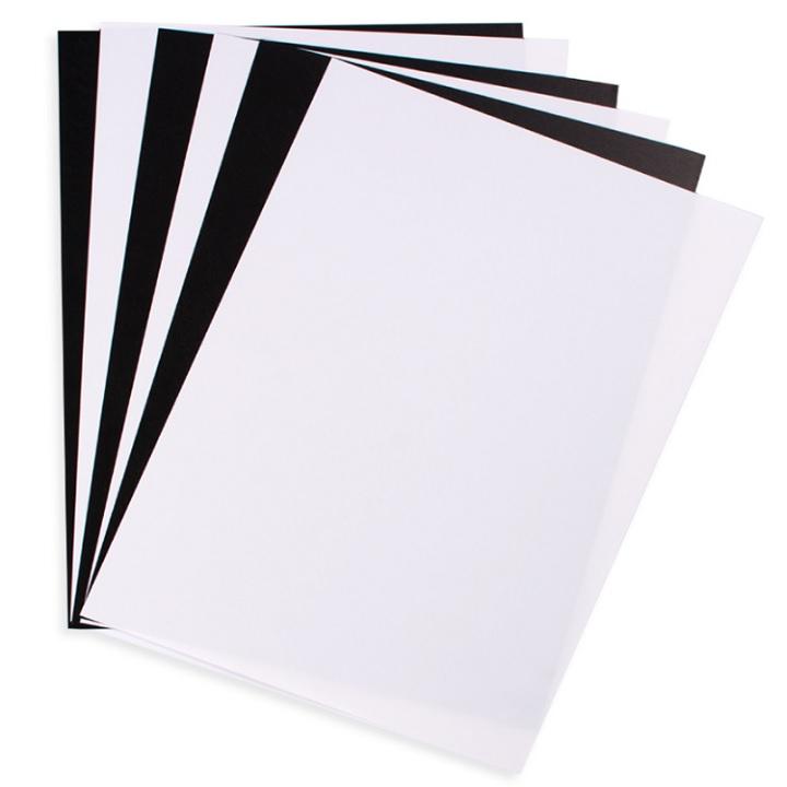 Zmršťovacia fólia čierno-biela / 6 ks