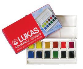Akvarelové farby LUKAS STUDIO 12x5ml - sada - plastový box