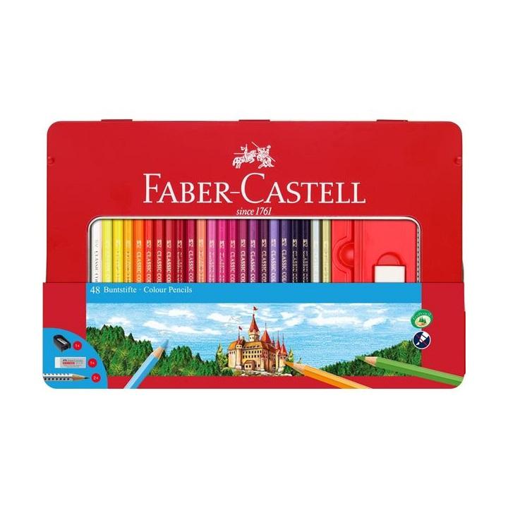 Pastelky Faber-Castell set 48 farebné v plechu s okienkom