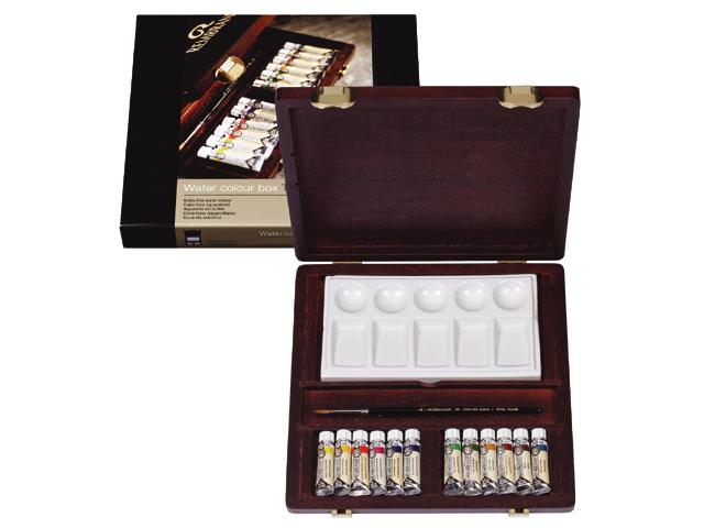 Kufrík / Akvarelové farby REMBRANDT Traditional BOX 12x5ml (sada akvarelových farieb v drevenom púzdre Royal Talens)