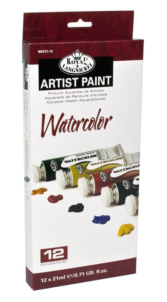 Akvarelové farby 12 x 21 ml - papierová krabica - sada