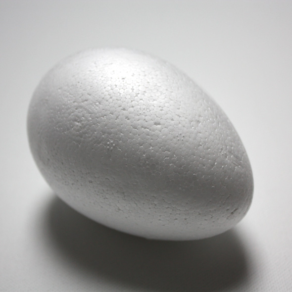 Polystyrénové vajíčko - rôzne veľkosti (dekoračné potreby)