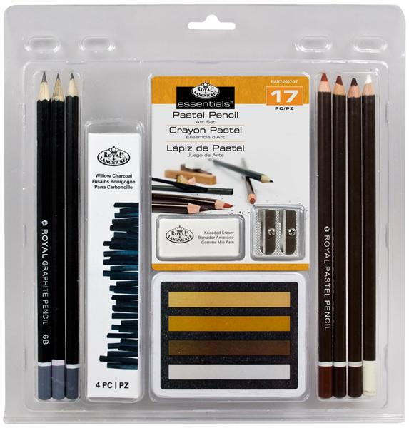 "17 dielna sada ""Pastel Pencil ART Set"""