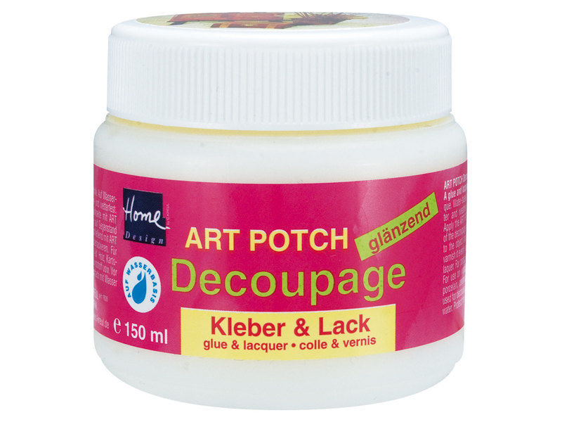 Lak a lepidlo na dekupáž 150 / 250 ml ART POTCH Decoupage - lesklé