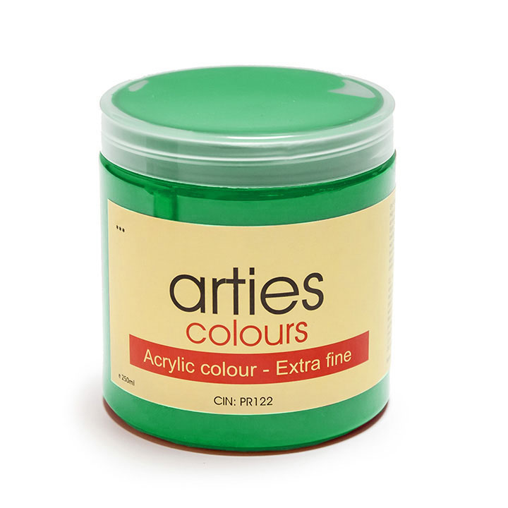 Akrylová farba Arties Colours 250 ml - Permanent Green Middle