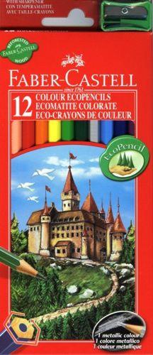 Pastelky Castell set 12 farebné (Faber Castel - Pastelky Klasik)