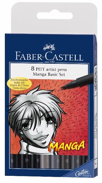 PITT umelecké perá Manga set (Faber Castel - Umelecké perá Pitt)
