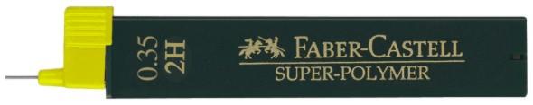 Tuhy grafitové superpolymer 9063 0.35 mm / 2H (Faber Castel - Tuhy do mechanickej ceruzky)
